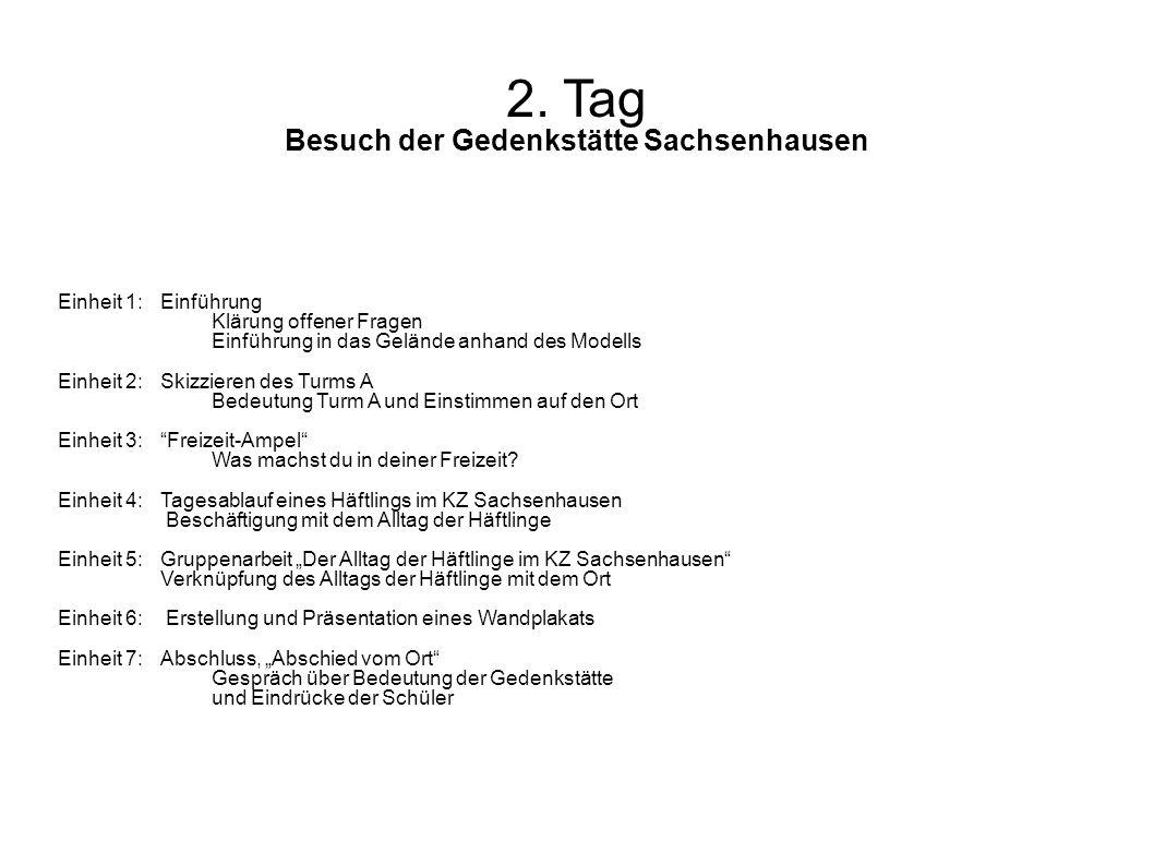2. Tag Besuch der Gedenkstätte Sachsenhausen