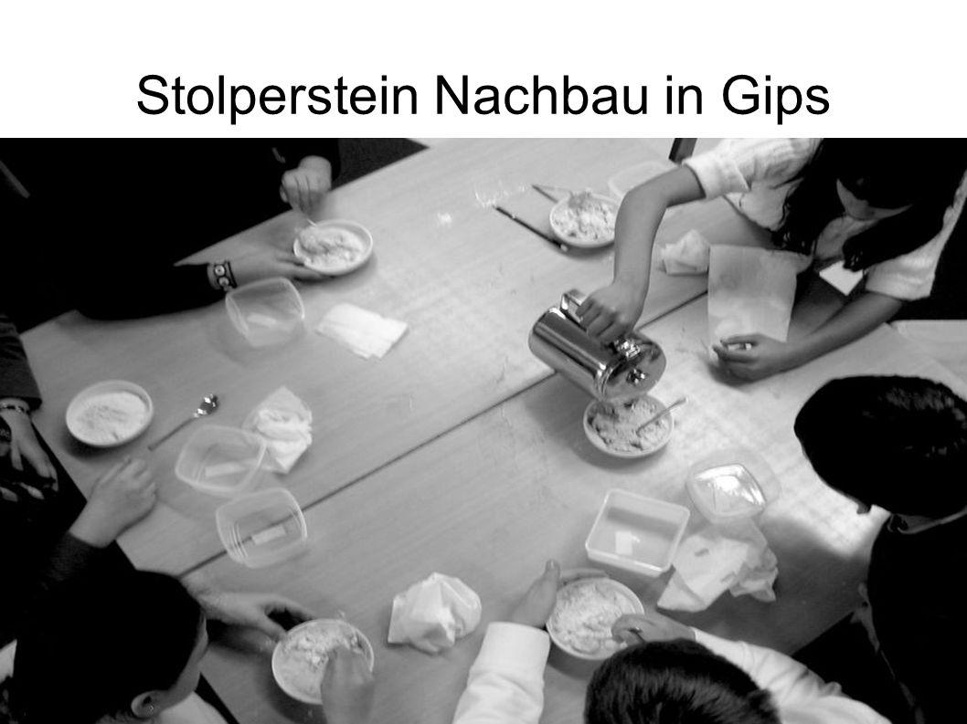 Stolperstein Nachbau in Gips