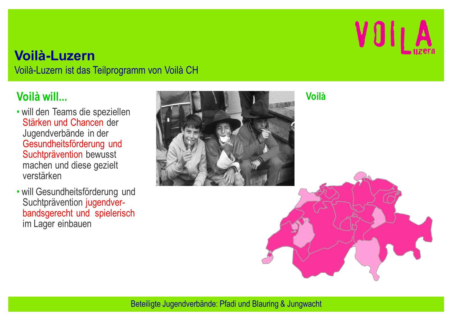 Beteiligte Jugendverbände: Pfadi und Blauring & Jungwacht