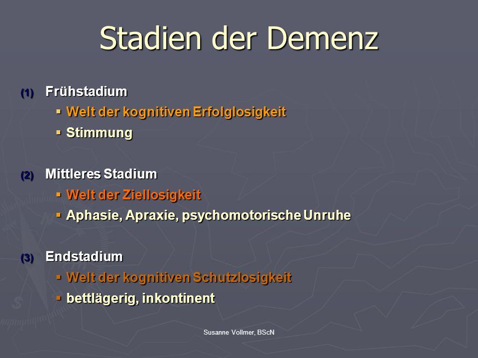 Stadien der Demenz Frühstadium Welt der kognitiven Erfolglosigkeit