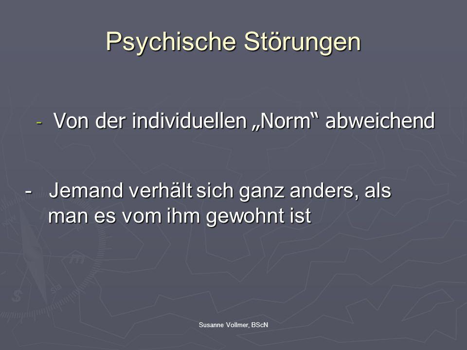 """Psychische Störungen Von der individuellen """"Norm abweichend"""