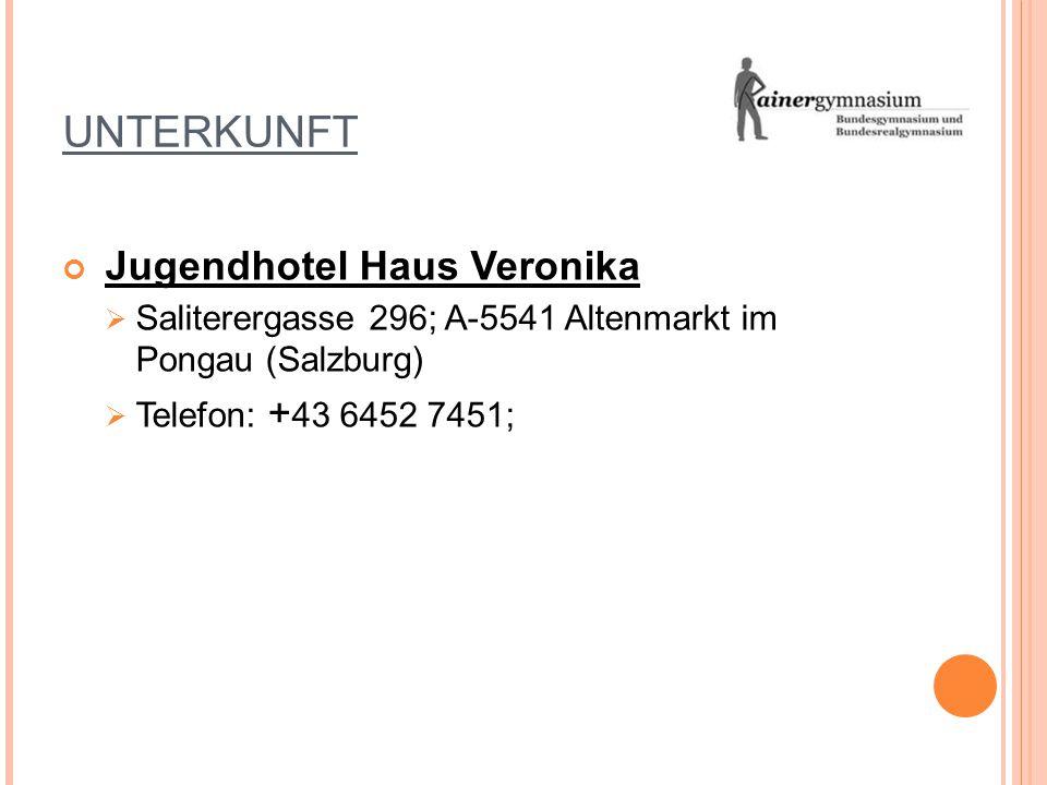 UNTERKUNFT Jugendhotel Haus Veronika