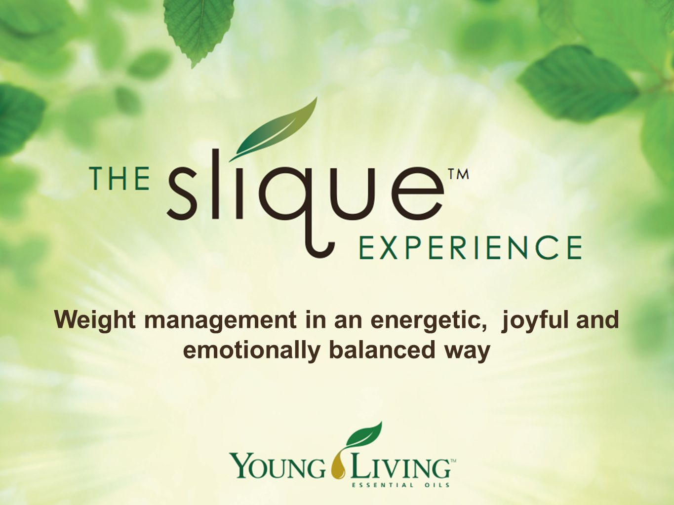 Weight management in an energetic, joyful and emotionally balanced way