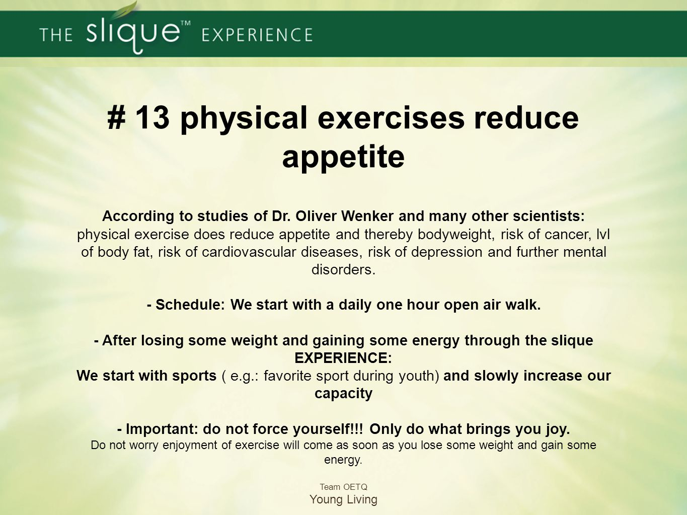 # 13 physical exercises reduce appetite