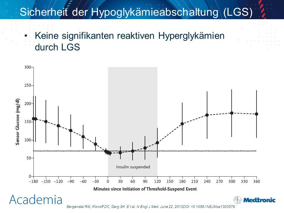 Sicherheit der Hypoglykämieabschaltung (LGS)