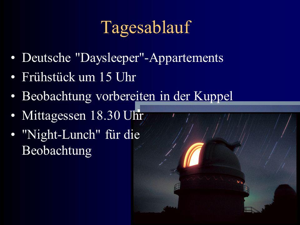 Tagesablauf Deutsche Daysleeper -Appartements Frühstück um 15 Uhr