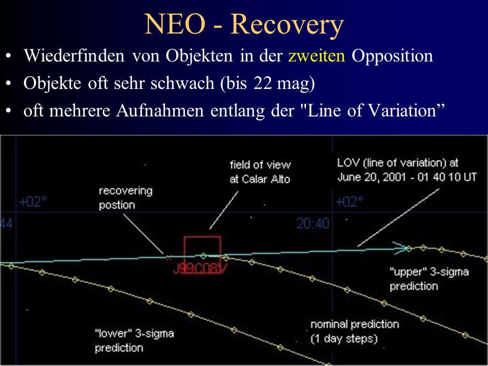 NEO - Recovery Wiederfinden von Objekten in der zweiten Opposition