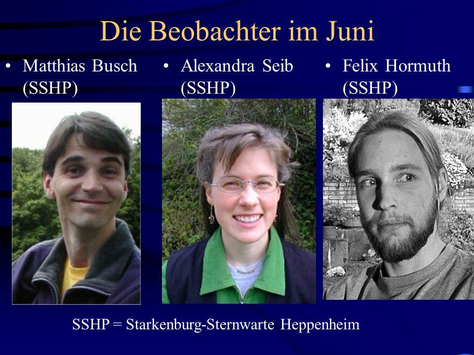Die Beobachter im Juni Matthias Busch (SSHP) Alexandra Seib (SSHP)