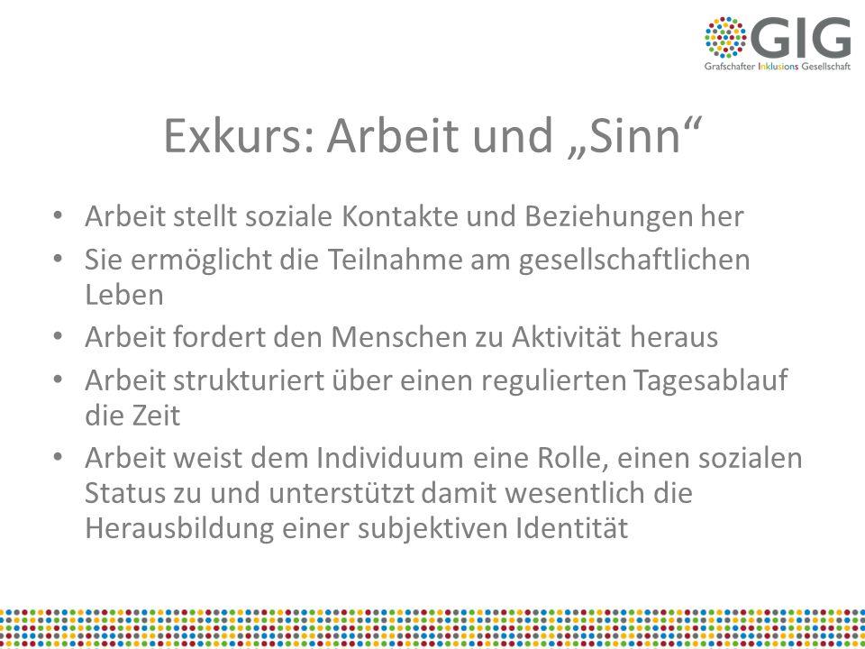 """Exkurs: Arbeit und """"Sinn"""
