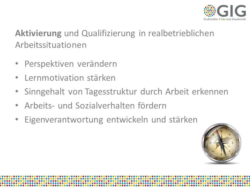 Aktivierung und Qualifizierung in realbetrieblichen Arbeitssituationen