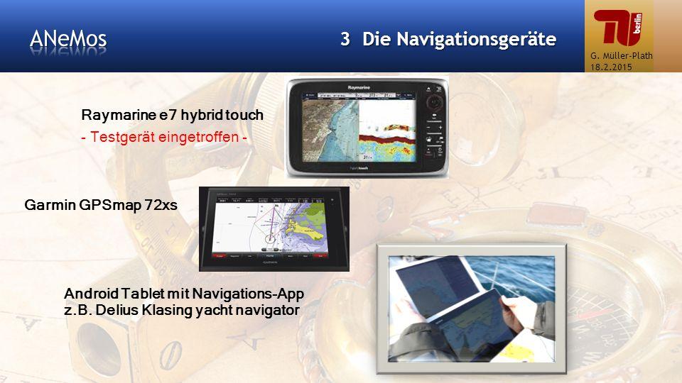 ANeMos 3 Die Navigationsgeräte