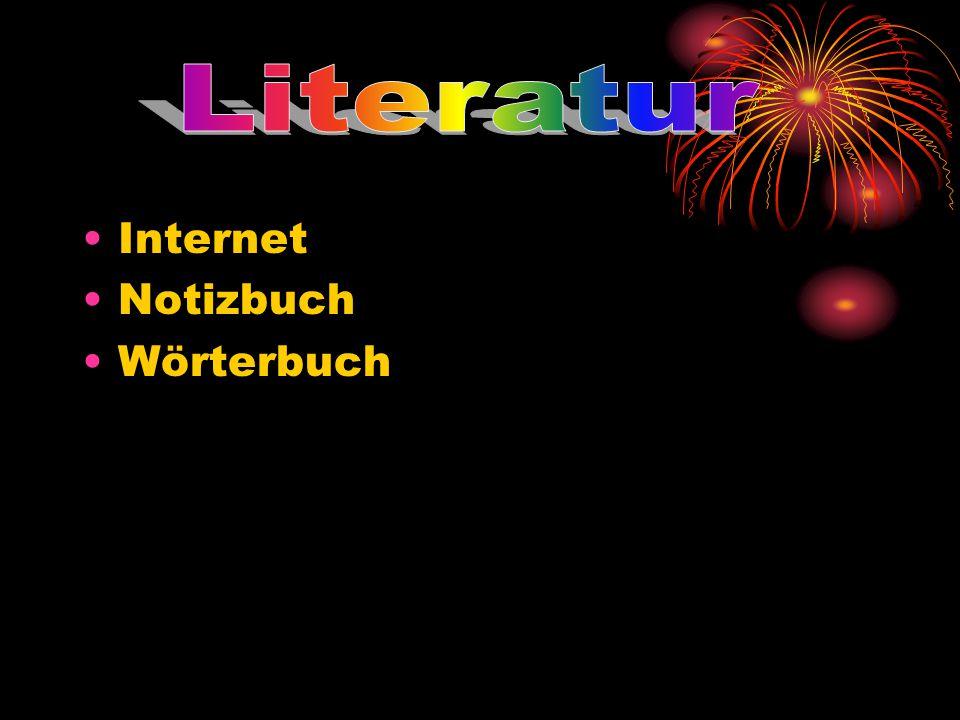 Literatur Internet Notizbuch Wörterbuch