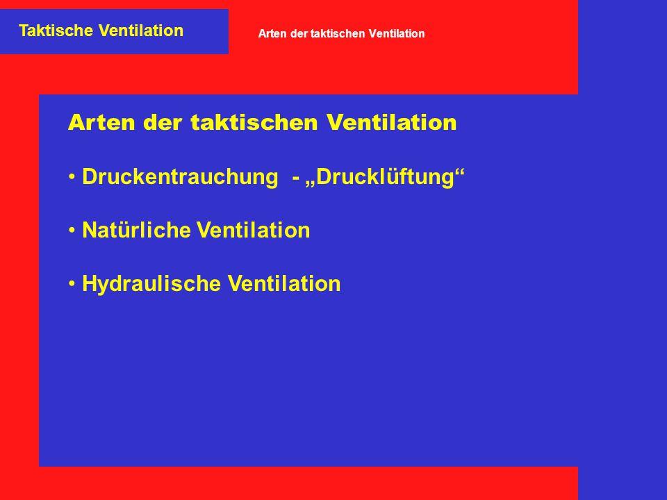 Arten der taktischen Ventilation