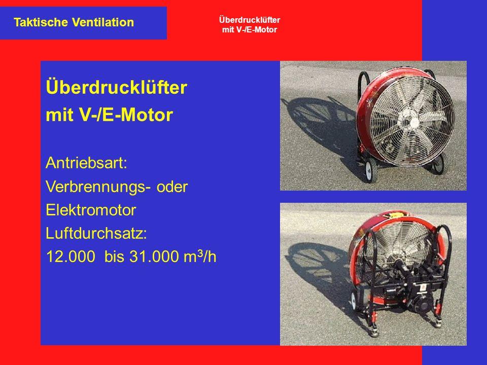 Überdrucklüfter mit V-/E-Motor