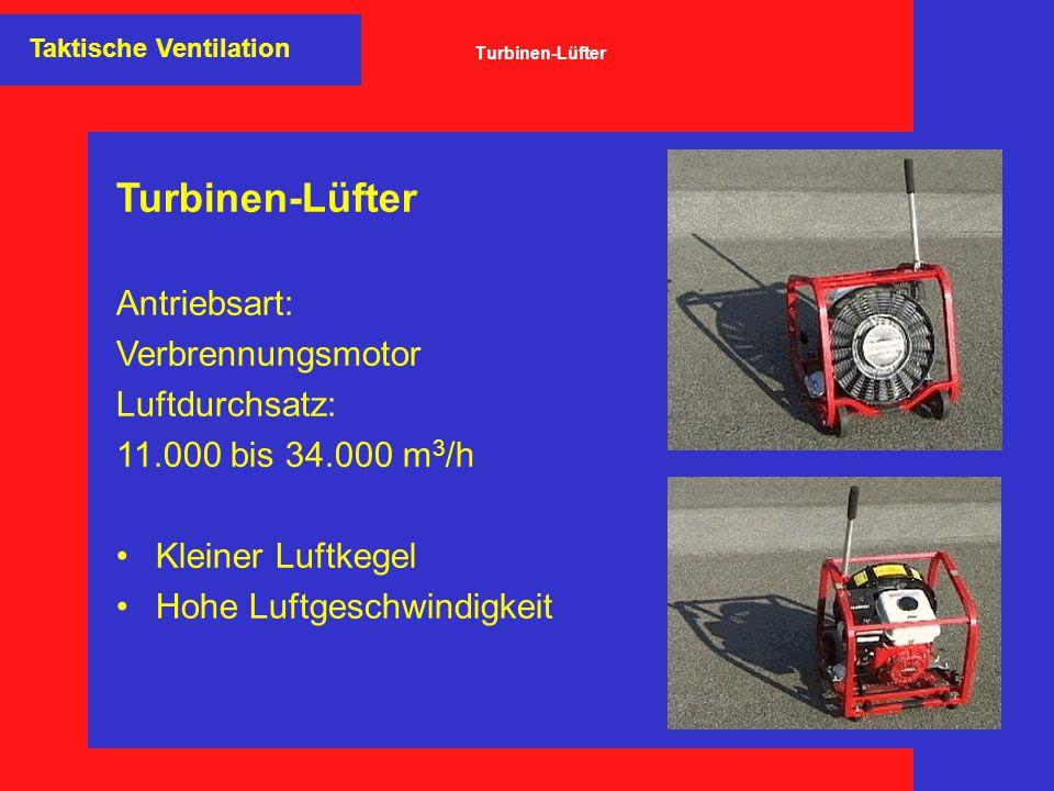 Turbinen-Lüfter Antriebsart: Verbrennungsmotor Luftdurchsatz: