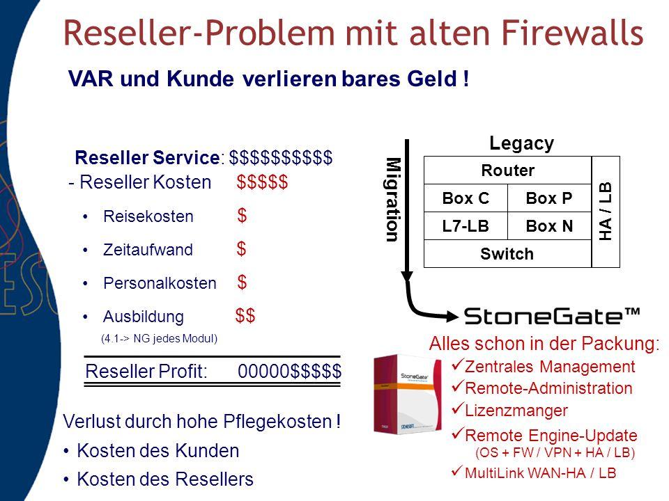 Reseller-Problem mit alten Firewalls