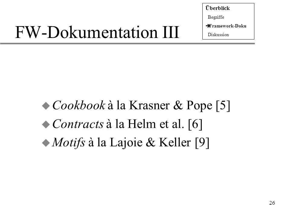 FW-Dokumentation III Cookbook à la Krasner & Pope [5]