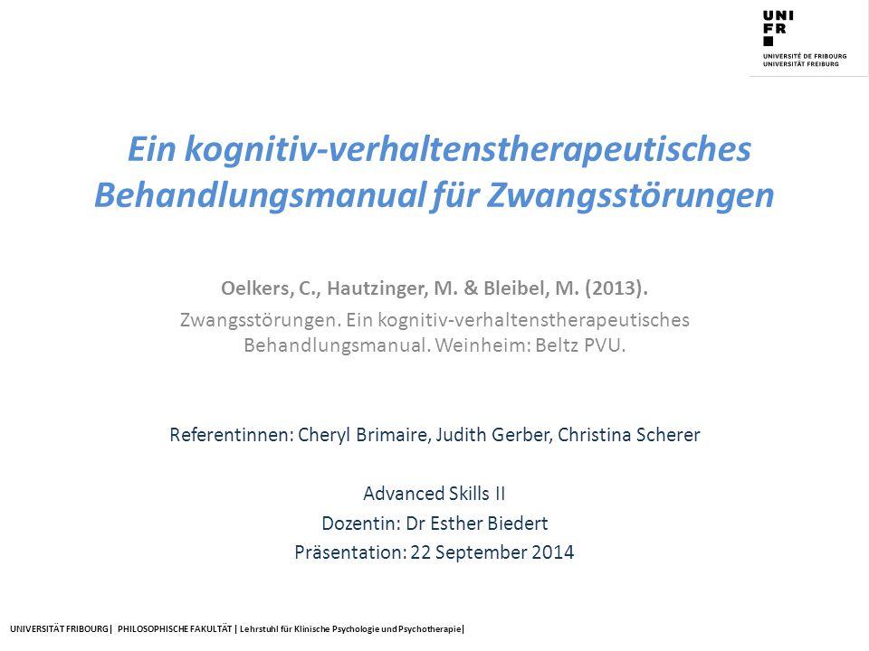Oelkers, C., Hautzinger, M. & Bleibel, M. (2013).