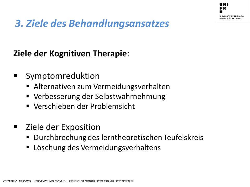3. Ziele des Behandlungsansatzes