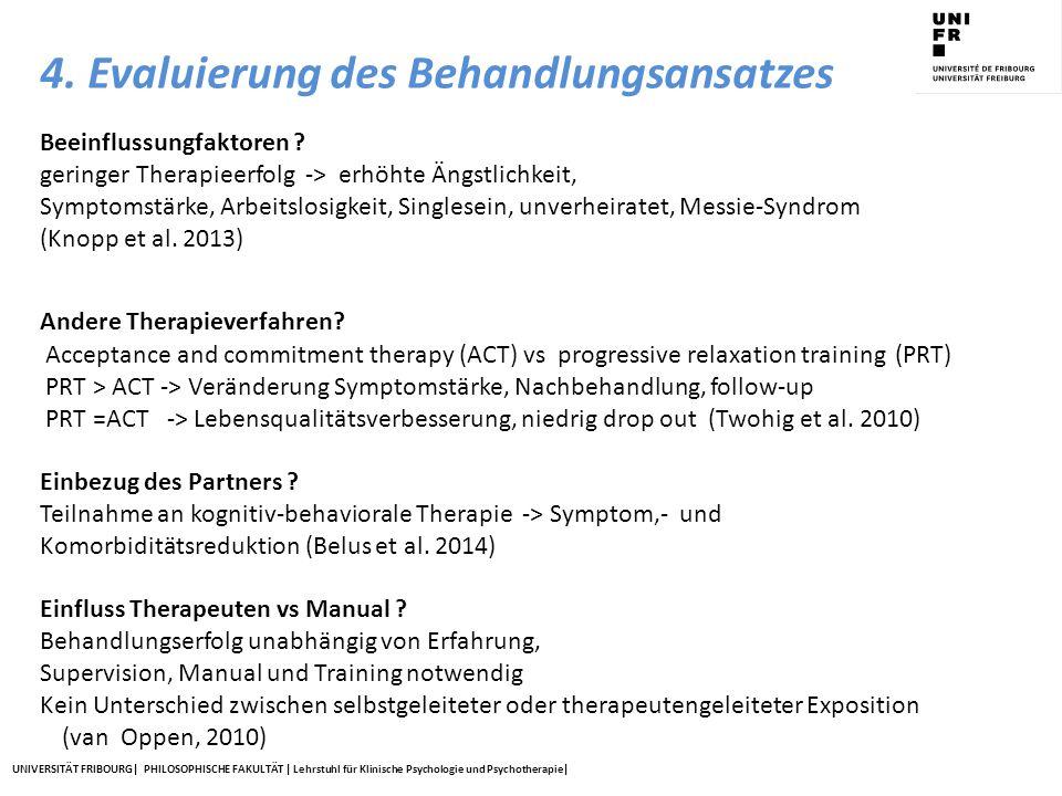 4. Evaluierung des Behandlungsansatzes