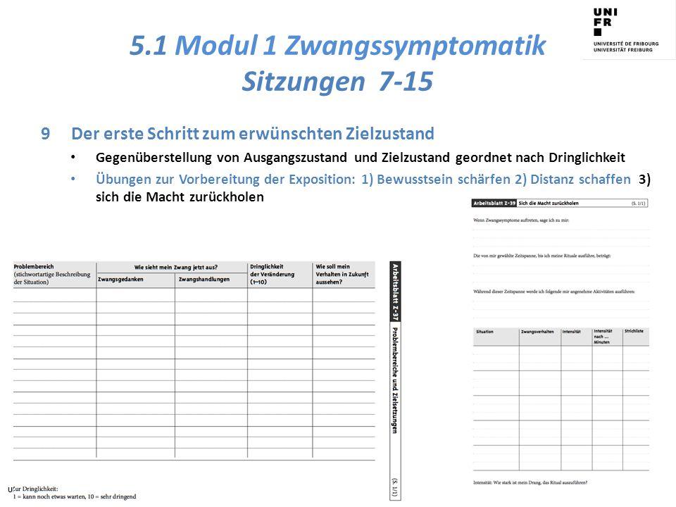 5.1 Modul 1 Zwangssymptomatik Sitzungen 7-15