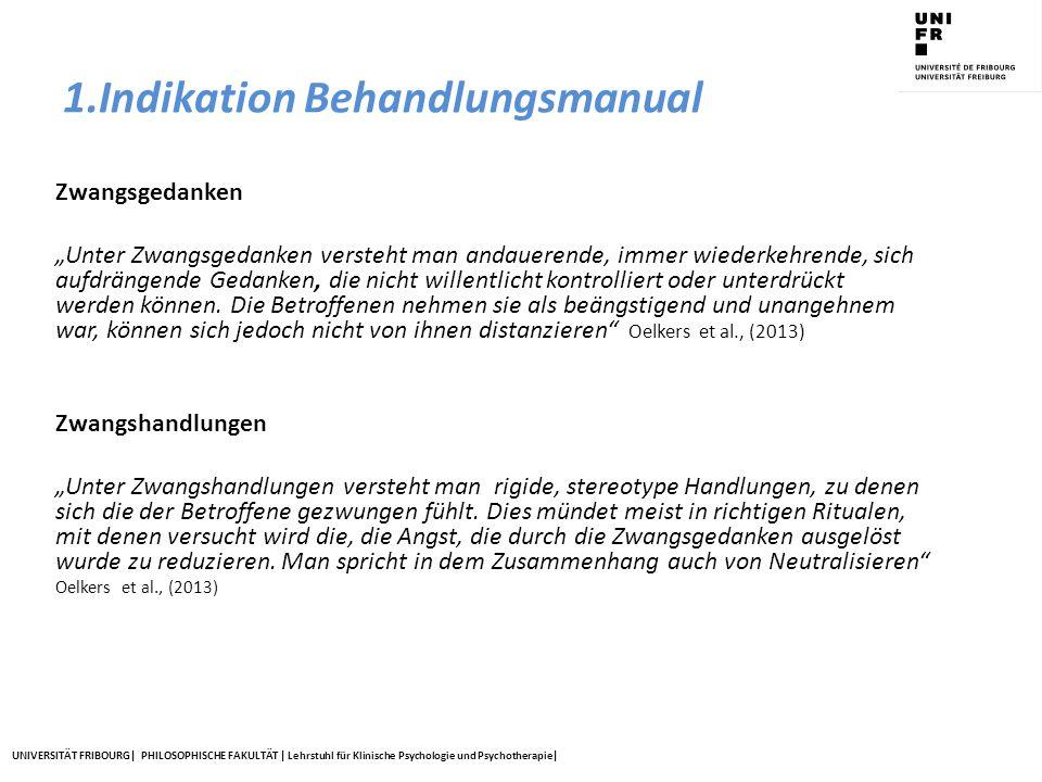 1.Indikation Behandlungsmanual
