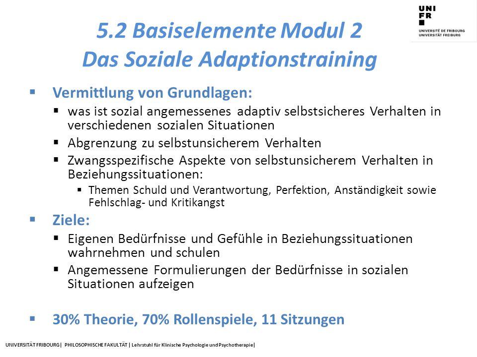 5.2 Basiselemente Modul 2 Das Soziale Adaptionstraining