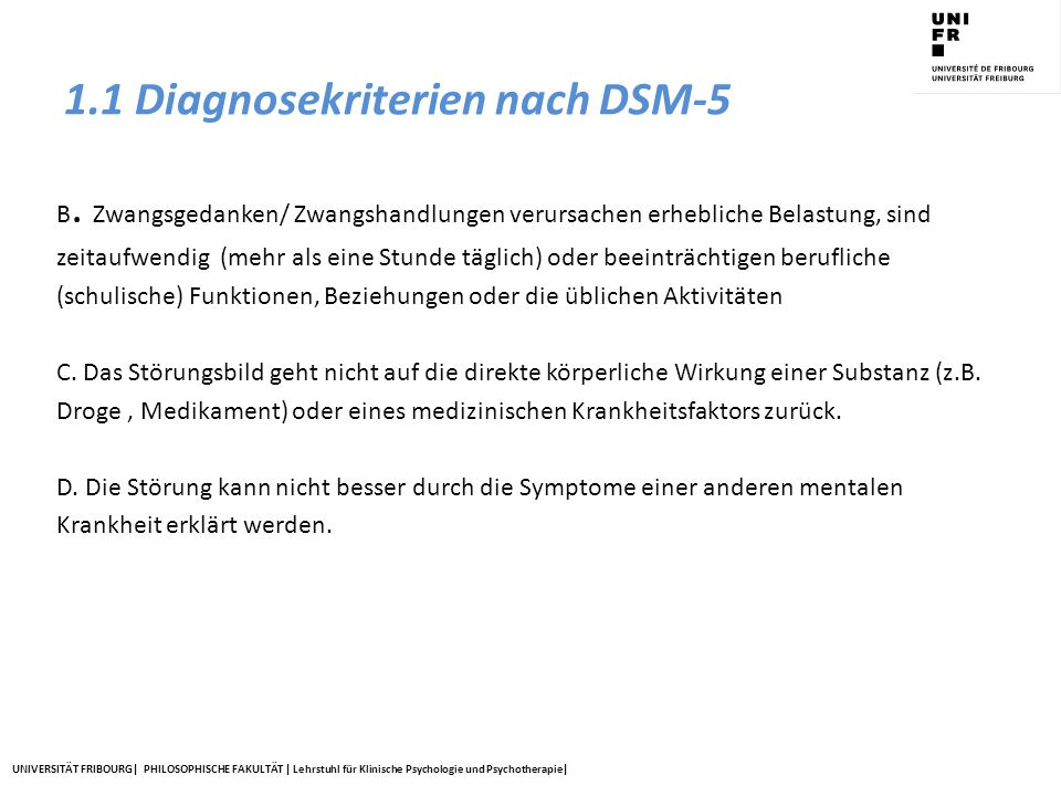 1.1 Diagnosekriterien nach DSM-5