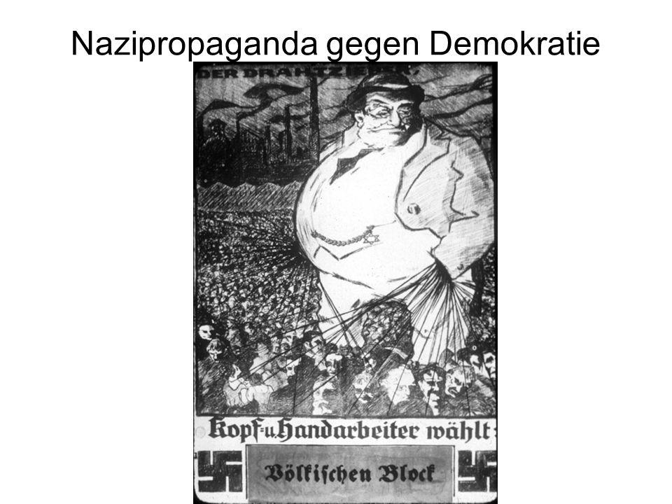 Nazipropaganda gegen Demokratie
