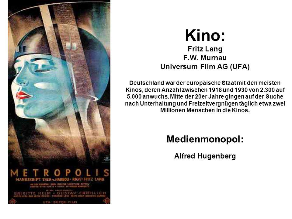 Kino: Fritz Lang F.W.