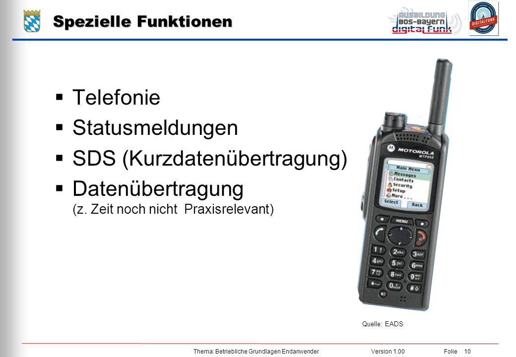 SDS (Kurzdatenübertragung)