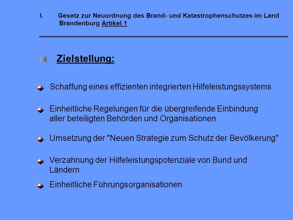 I. Gesetz zur Neuordnung des Brand- und Katastrophenschutzes im Land Brandenburg Artikel 1
