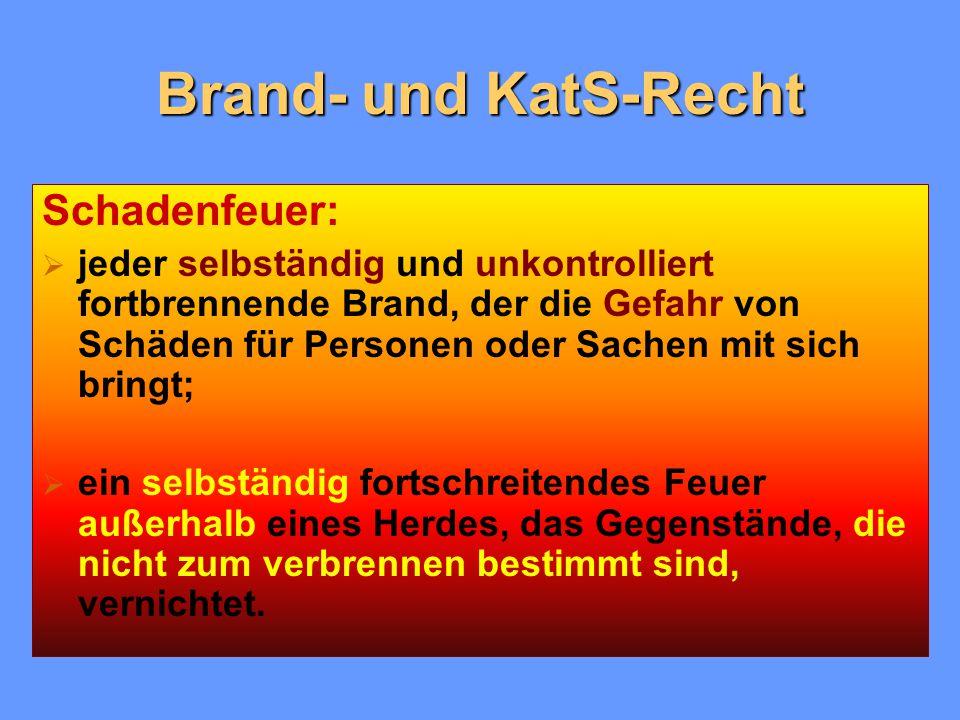 Brand- und KatS-Recht Schadenfeuer: