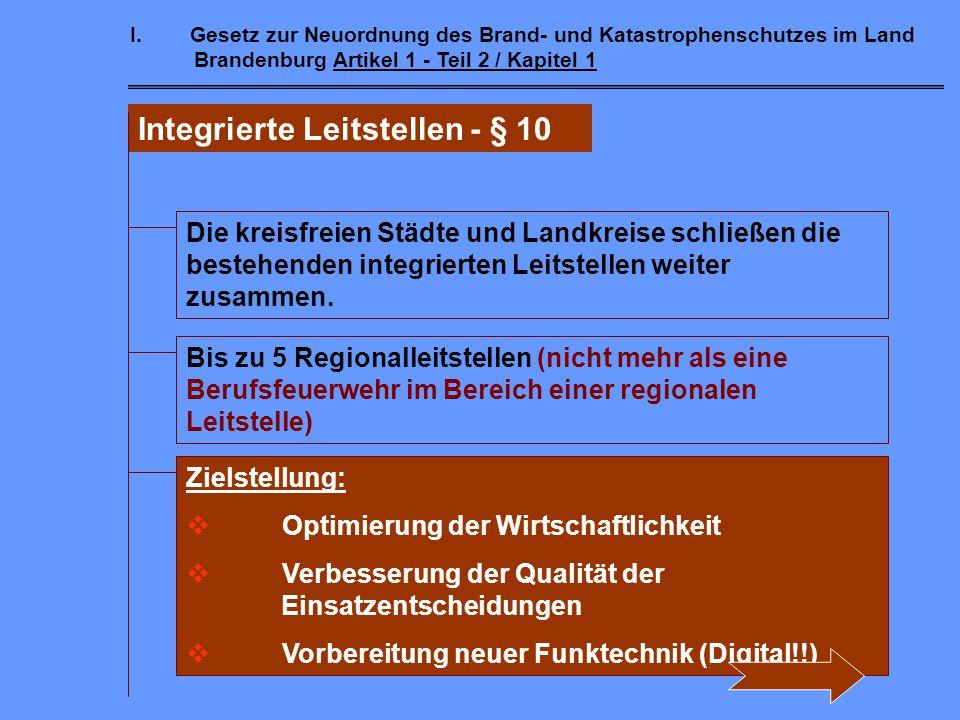 Integrierte Leitstellen - § 10