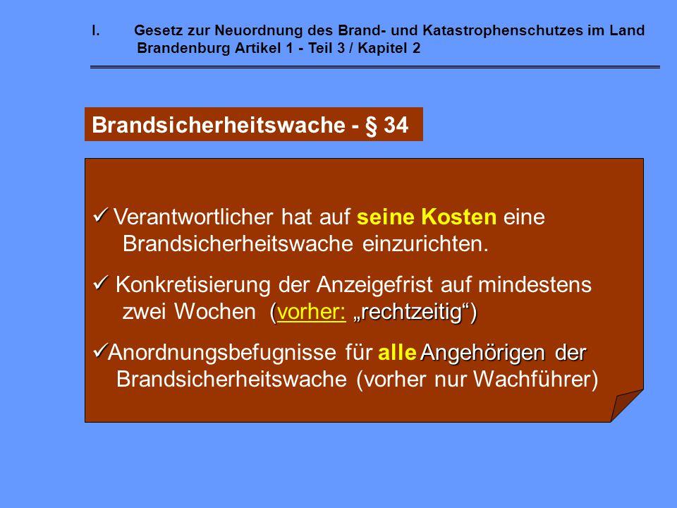 Brandsicherheitswache - § 34