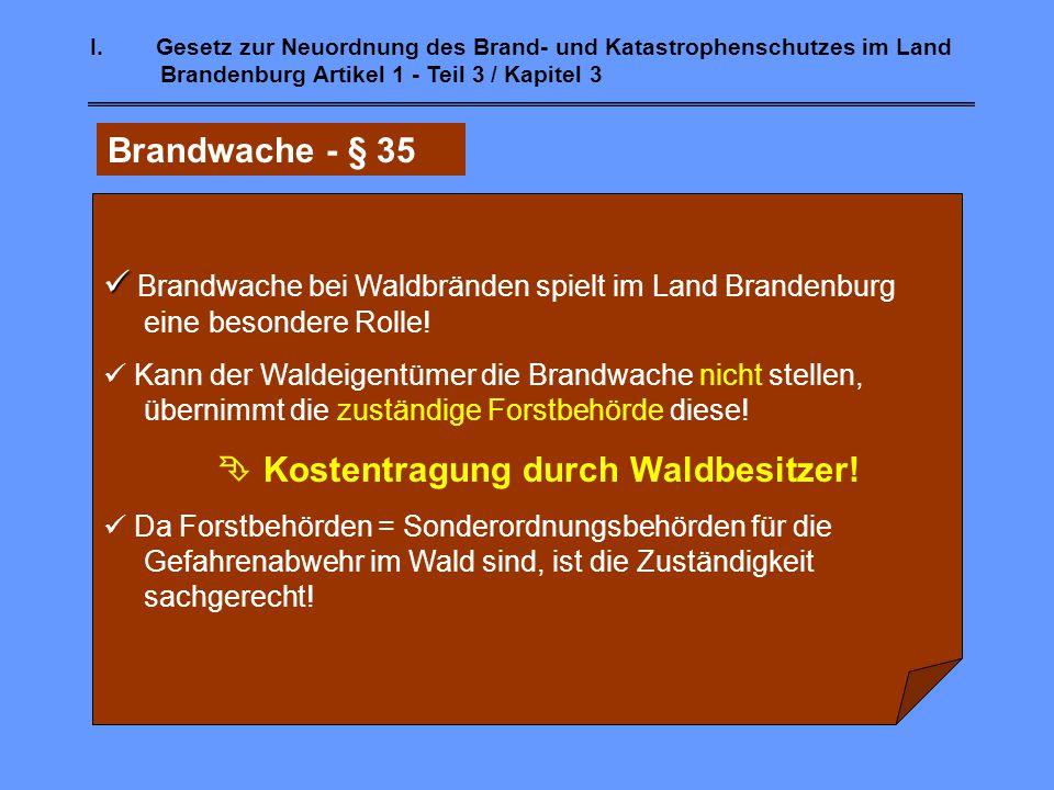 Brandwache bei Waldbränden spielt im Land Brandenburg