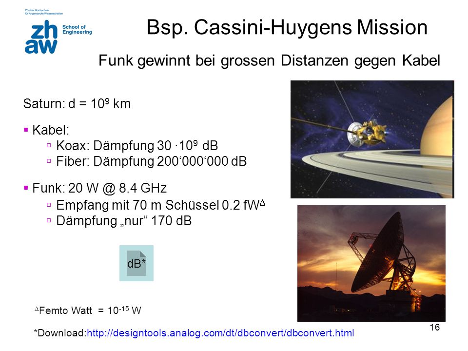 Bsp. Cassini-Huygens Mission