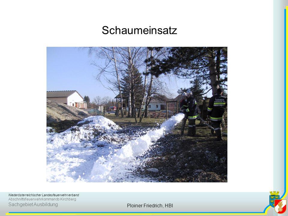 Schaumeinsatz Ploiner Friedrich, HBI