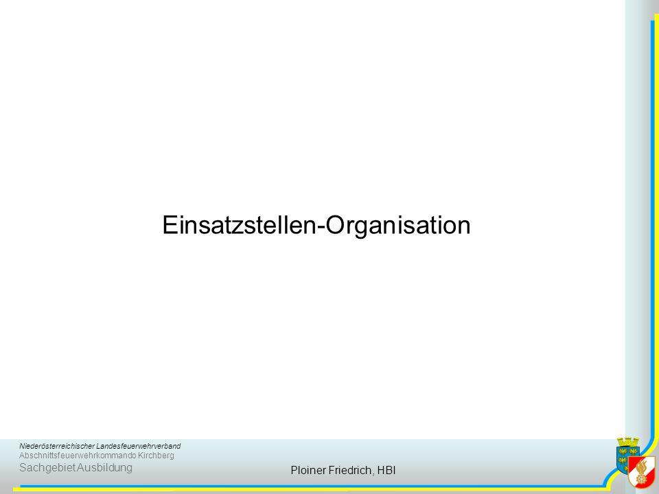 Einsatzstellen-Organisation
