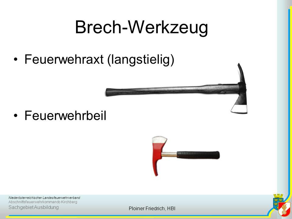 Brech-Werkzeug Feuerwehraxt (langstielig) Feuerwehrbeil