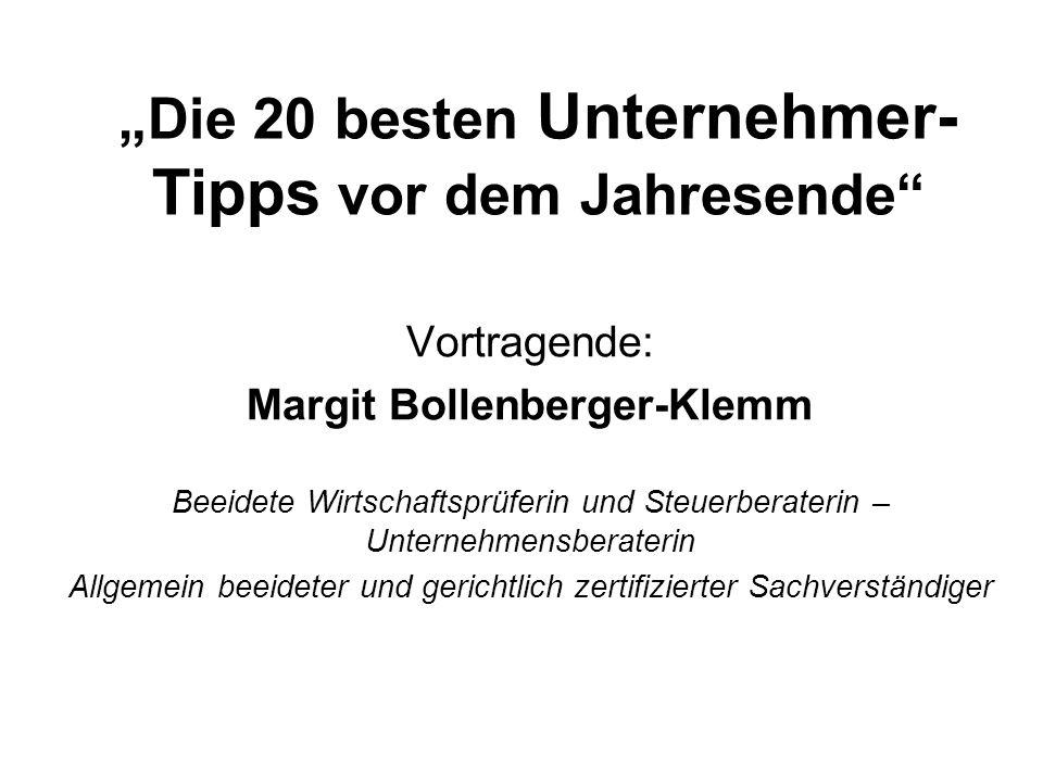 """""""Die 20 besten Unternehmer-Tipps vor dem Jahresende"""