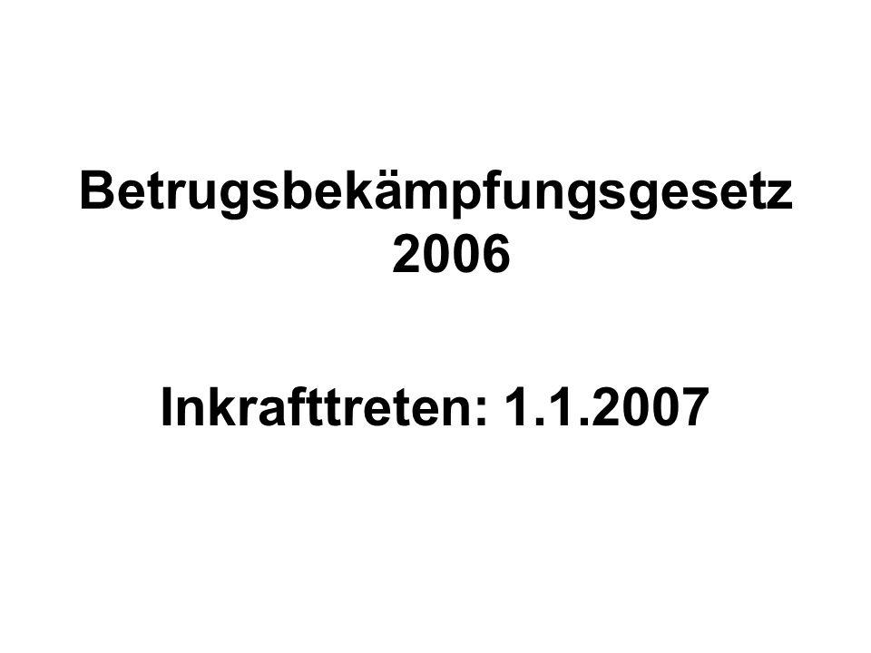 Betrugsbekämpfungsgesetz 2006