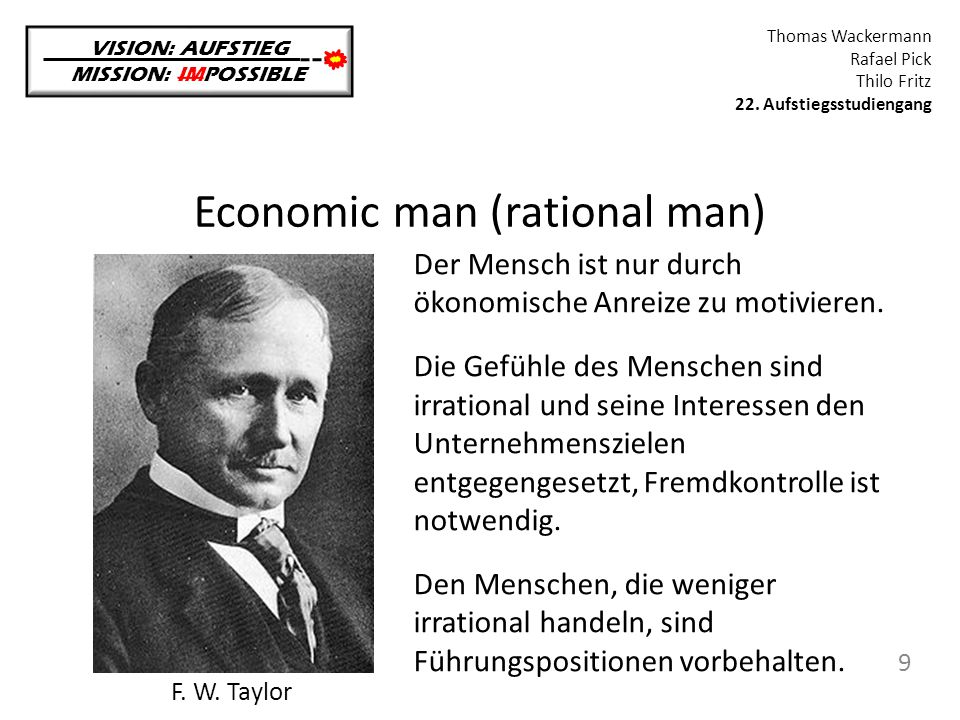 Economic man (rational man)