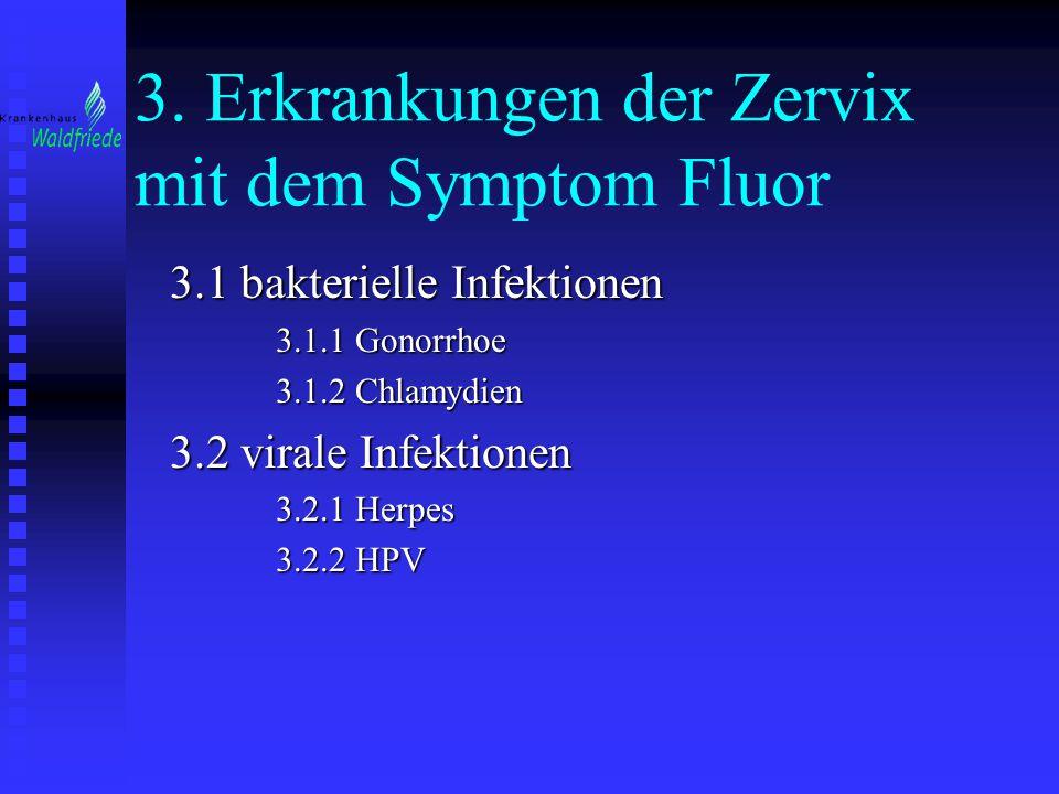 3. Erkrankungen der Zervix mit dem Symptom Fluor