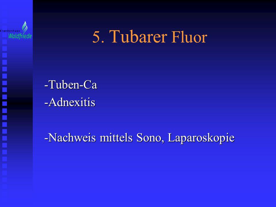 -Tuben-Ca -Adnexitis -Nachweis mittels Sono, Laparoskopie