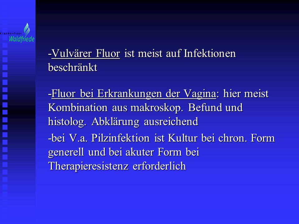 -Vulvärer Fluor ist meist auf Infektionen beschränkt
