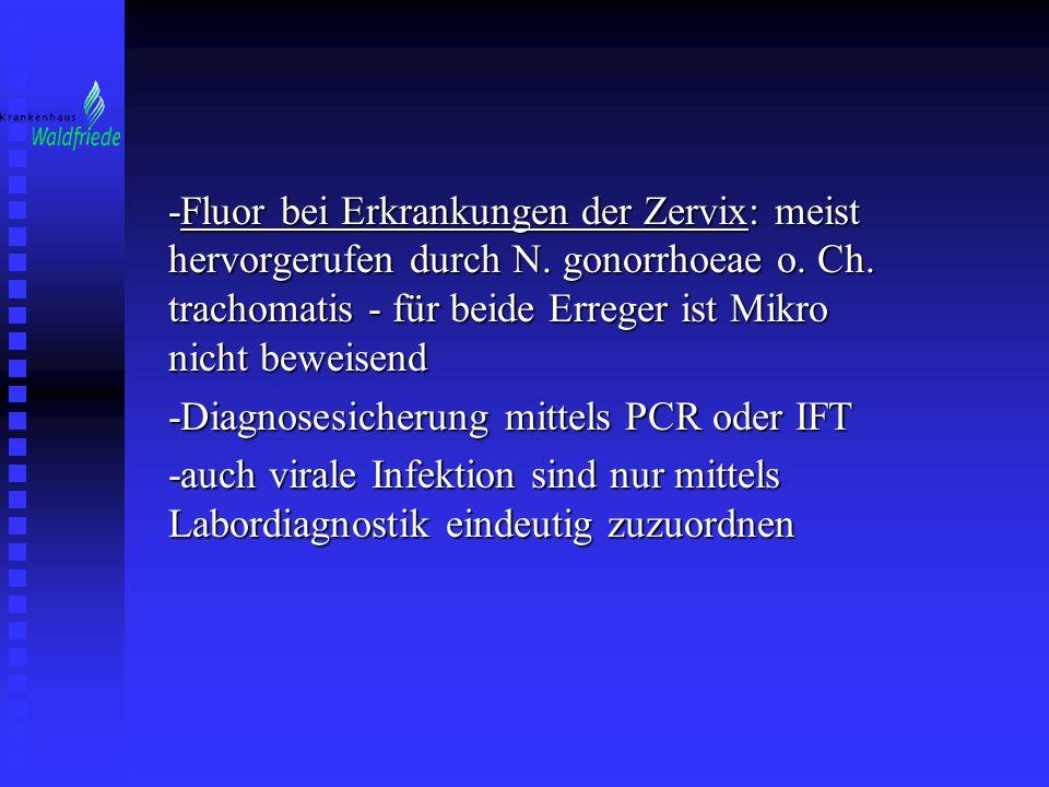 -Fluor bei Erkrankungen der Zervix: meist hervorgerufen durch N