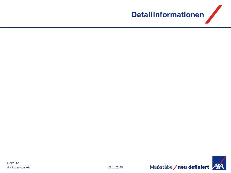 Detailinformationen AXA Service AG 09.03.2010