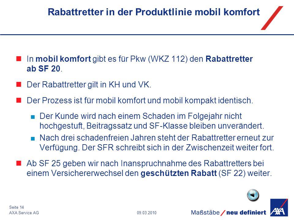 Rabattretter in der Produktlinie mobil komfort