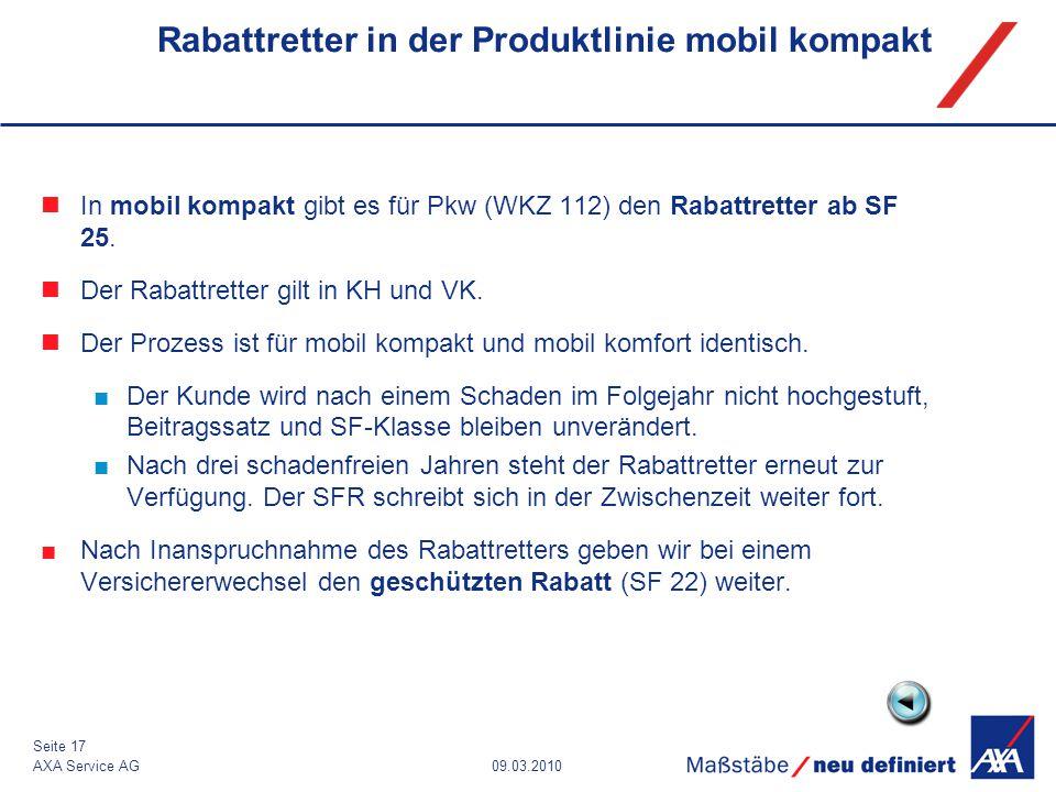 Rabattretter in der Produktlinie mobil kompakt